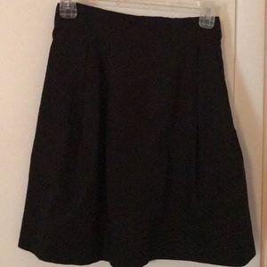 J. Crew 100 percent cotton black skirt size 6